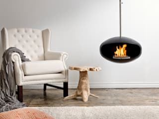 Cocoon Aeris Fireplace Wharfside Furniture 모던스타일 거실