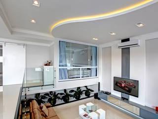 RESIDÊNCIA AV Salas de estar modernas por Le Araujo Arquitetura Moderno
