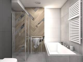 BAGUA Pracownia Architektury Wnętrz Baños de estilo moderno