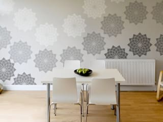 Lotus Flower Stencil. Extra Large for impact! Reusable laser cut stencils from The Stencil Studio Scandinavian Collection:   by The Stencil Studio Ltd