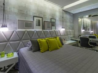 Projeto 17 - Residência clean: Quartos  por GREISSE PANAZZOLO ARQUITETURA