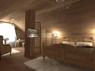 """Мансарда в стиле """"Прованс"""" Спальня в стиле кантри от Makhrova Svetlana Кантри"""