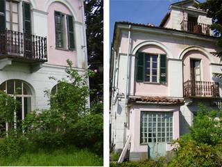 Villa Pumila, un esempio di neoclassico nel Monferrato.: Case in stile  di P.S.Studio - progettazione sostenibile
