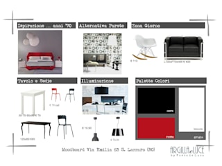 "Moodboard ""strong"":  in stile  di FOSCA de LUCA Home Stager & Redesigner"