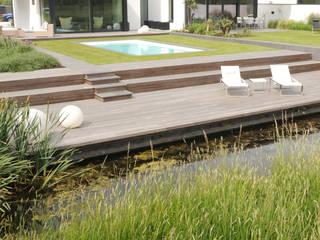 Polder garden in Delft, Holland Andrew van Egmond (ontwerp van tuin en landschap) Giardino minimalista