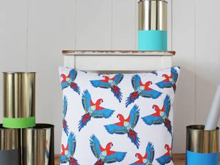 Majestic Macaw Cushion:   by martha and hepsie ltd