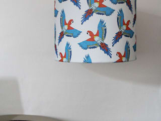 Majestic Macaw Lampshade:   by martha and hepsie ltd