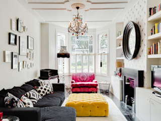 Queens Park House Honeybee Interiors Eclectic style living room