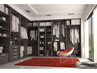 Industrial style dressing room by MUEBLES RABANAL SL Industrial