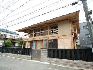 Japanese traditional wooden house Maisons asiatiques par 建築設計事務所 山田屋 Asiatique