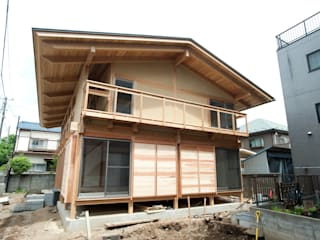 Japanese traditional wooden house Asian style houses by 建築設計事務所 山田屋 Asian