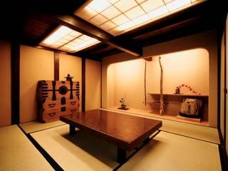 伝統木造のN邸 和風デザインの 多目的室 の 建築設計事務所 山田屋 和風