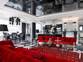 APARTAMENT DLA DWOJGA livinghome wnętrza Katarzyna Sybilska Eklektyczny salon