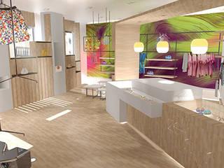Concept Store Zephyr: Locaux commerciaux & Magasins de style  par MVA Intérieur