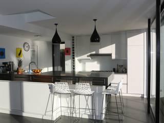 ONZIEME ETAGE SARL d'architecture 廚房長凳套