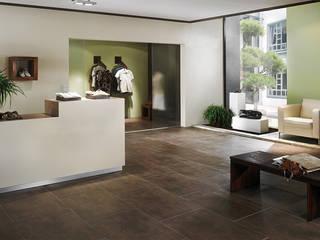 Raumbeispiele gestaltet mit Lehmspachtelputz oder Lehmfarben von Lesando Moderne Praxen von Schmiedhaus - Ökologische Baustoffhandel - Lehmputz u.v.m. Modern
