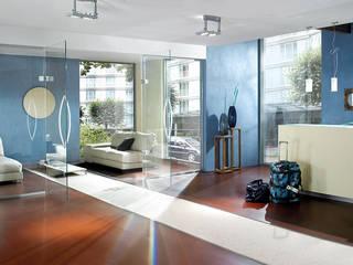 Raumbeispiele gestaltet mit Lehmspachtelputz oder Lehmfarben von Lesando Moderne Hotels von Schmiedhaus - Ökologische Baustoffhandel - Lehmputz u.v.m. Modern