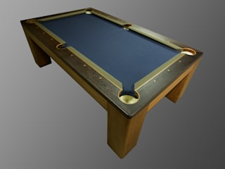 Custom 'Spartan' American Pool Table.: modern Dining room by Designer Billiards