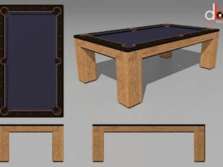 Custom 'Spartan' American Pool Table. Designer Billiards