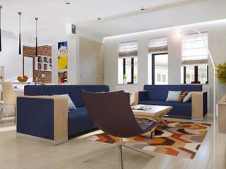 Квартира в центре Казани: Гостиная в . Автор – PlatFORM