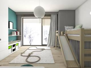 Nursery/kid's room by BAGUA Pracownia Architektury Wnętrz