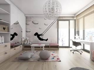 Pokoje dziecięce w domach jednorodzinnych (projekty wykonane dla A2.Studio Pracownia Architektury) Nowoczesny pokój dziecięcy od BAGUA Pracownia Architektury Wnętrz Nowoczesny