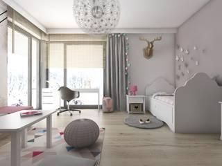 Kinderzimmer von BAGUA Pracownia Architektury Wnętrz