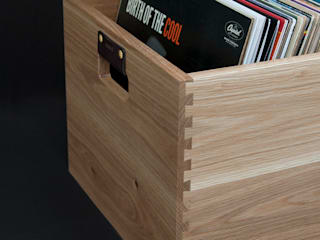 Dovetail Record Crate Symbol Audio Sala multimediaMuebles
