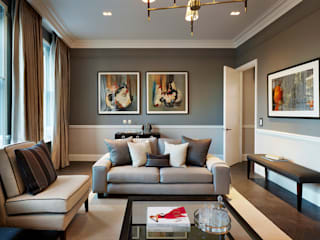 Silence in the City - Maisonette in Chelsea Modern living room by Tyler Mandic Ltd Modern
