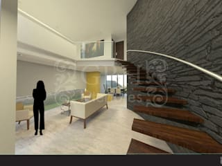 Modern Oturma Odası GRH Interiores Modern