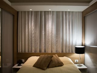 Modern style bedroom by Bibiana Menegaz - Arquitetura de Atmosfera Modern