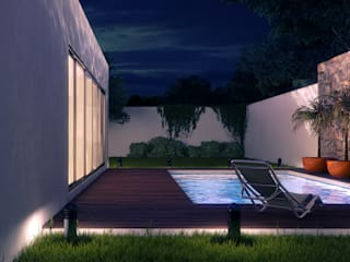 Pool Lights & Shades Studios Piscinas de estilo moderno