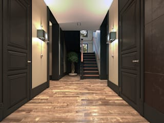 Eclectic style corridor, hallway & stairs by MC Interior Eclectic