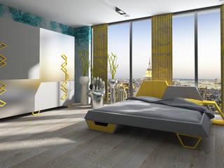 Inan AYDOGAN /IA Interior Design Office BedroomBeds & headboards