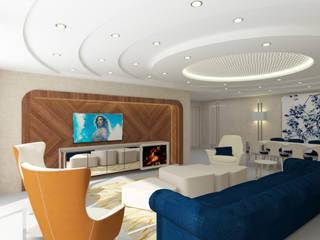 Inan AYDOGAN /IA  Interior Design Office – 15300 Misia Residence:  tarz Oturma Odası
