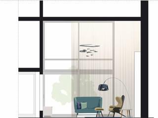Wohnraumplanung Wohnzimmer: modern  von Atelier Feynsinn | Innenarchitektur,Modern