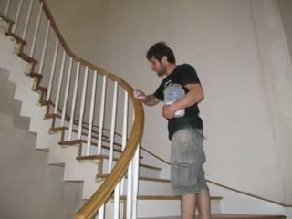 MERDİVENCİ Corridor, hallway & stairsStairs Wood Wood effect
