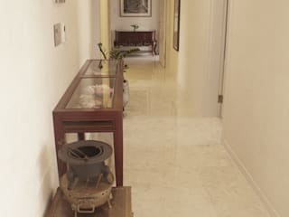 "New concept natural marble flooring ""NEW EASYSTONE"" Classic style corridor, hallway and stairs by (주)이지테크(EASYTECH Inc.) Classic"