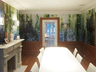 Moss, one off wallpaper eetkamer Boston MA van Workingbert Eclectisch
