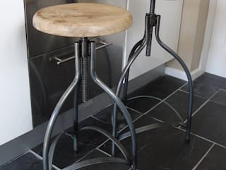 Industrial Adjustable Bar Stool:   by The Den & Now