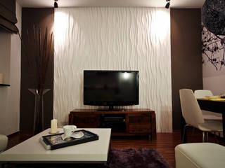 3D Wandpaneele Modell Nr. 27 STREAM:  Wohnzimmer von Loft Design System Deutschland - Wandpaneele aus Bayern