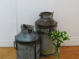 Vintage Milk Churns:   by The Den & Now