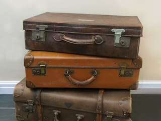 Vintage Leather Luggage:   by The Den & Now