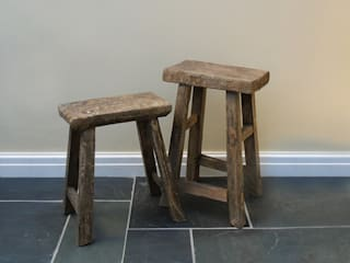 Rustic Wooden Stools:   by The Den & Now