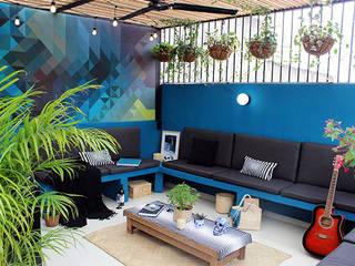Modern balcony, veranda & terrace by NINA SAND Modern
