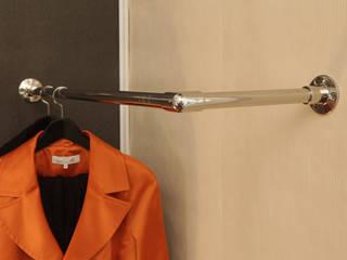 Garderobenstange aus Edelstahl poliert in L-Form als Wandmontage:   von ULI Garderoben