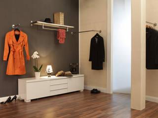 ULI Garderobenstange und Kleiderstangen aus Edelstahl nach Maß:  Flur & Diele von ULI Garderoben