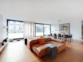 Wohnraum: minimalistische Wohnzimmer von wesenfeld höfer architekten