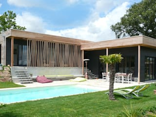 Maison Le K / Vandel - 44 Maisons modernes par Gilles Cornevin SARL Moderne