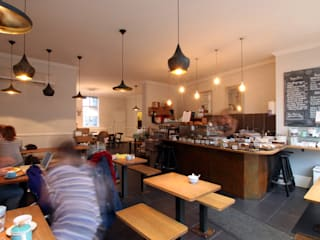 Fee & Brown Coffee House, Beckenham + Orpington Industrial style gastronomy by Tendeter Industrial
